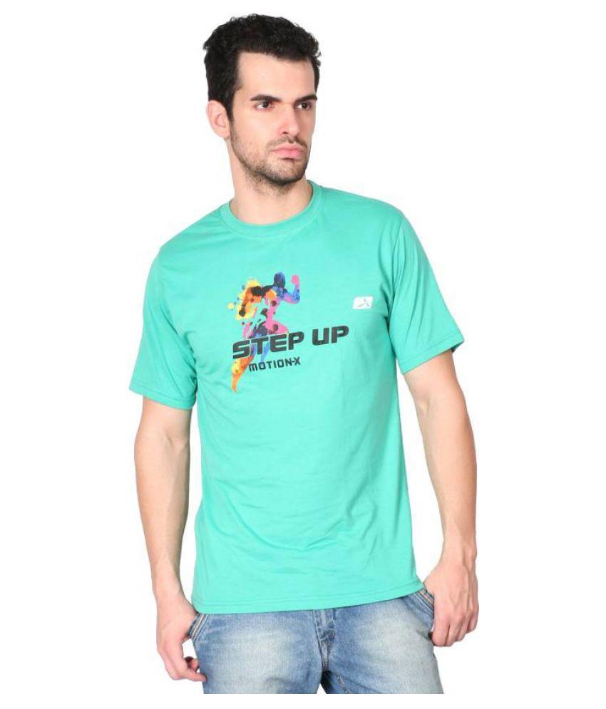 Vector X Men's Round Neck Light Green T-Shirt