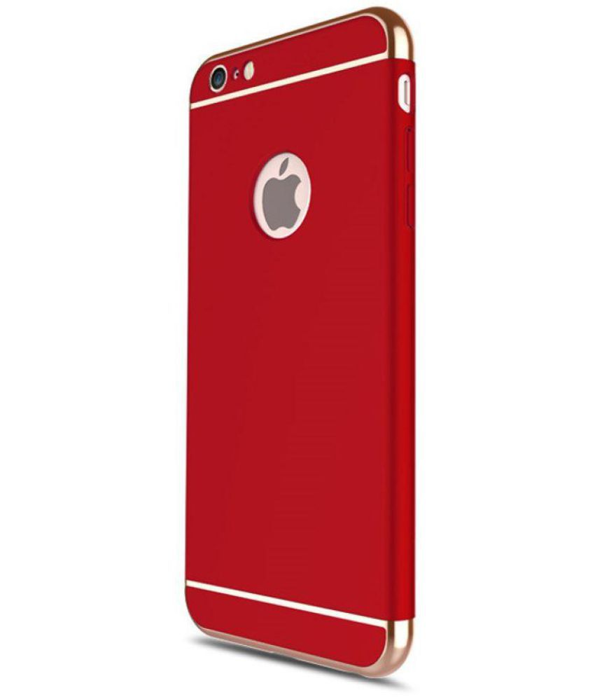 Rask Apple iPhone 6 Bumper Cases BIGZOOK - Red - Plain Back Covers TC-15