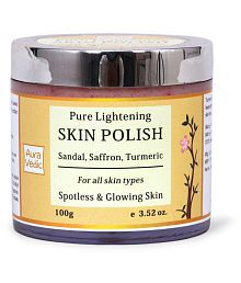Auravedic Pure Lightening Skin Polish With Sandal Face Peel Cream 100 Gm