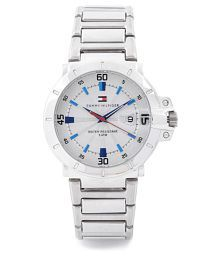 Tommy Hilfiger NATH1790468J Silver Analog Watch - For Men