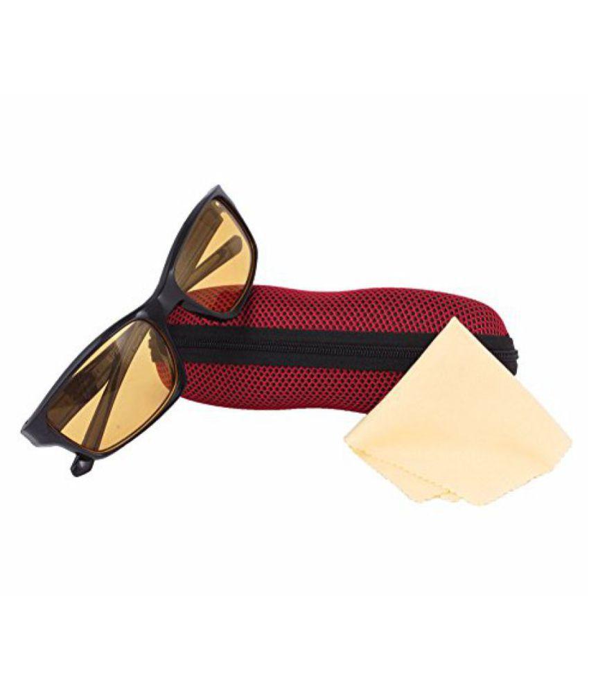 Black Square Sporty Sunglass For Men