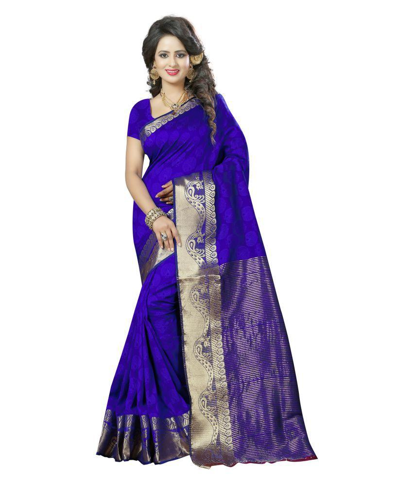 Fab Brand Blue Banarasi Silk Saree