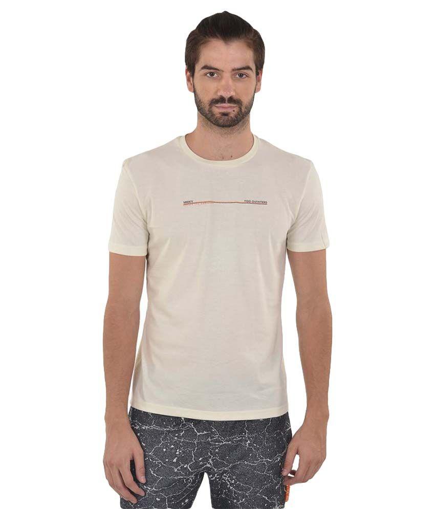YOO Off-White Round T-Shirt