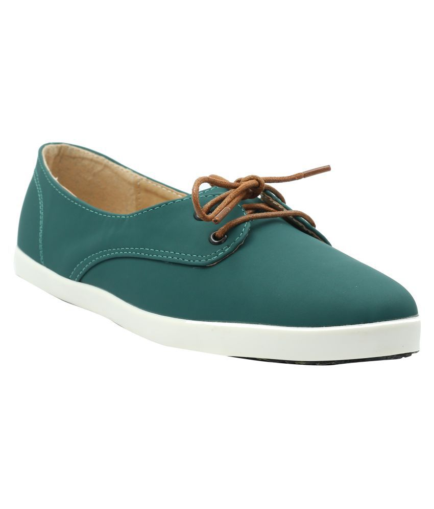 Shuberry Green Casual Shoes