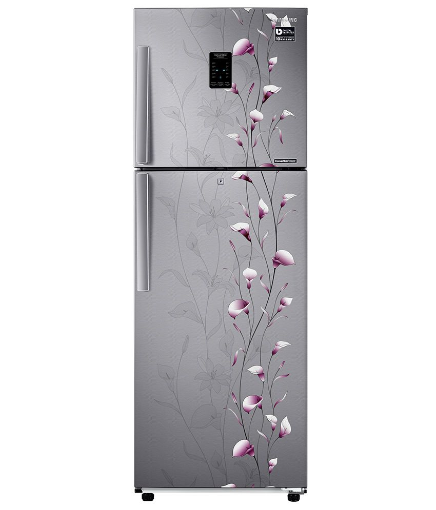 Samsung 253 Ltr 3 Star RT28K3953SZ/HL Double Door Refrigerator [with Convertible Feature] - Tender Lily Silver