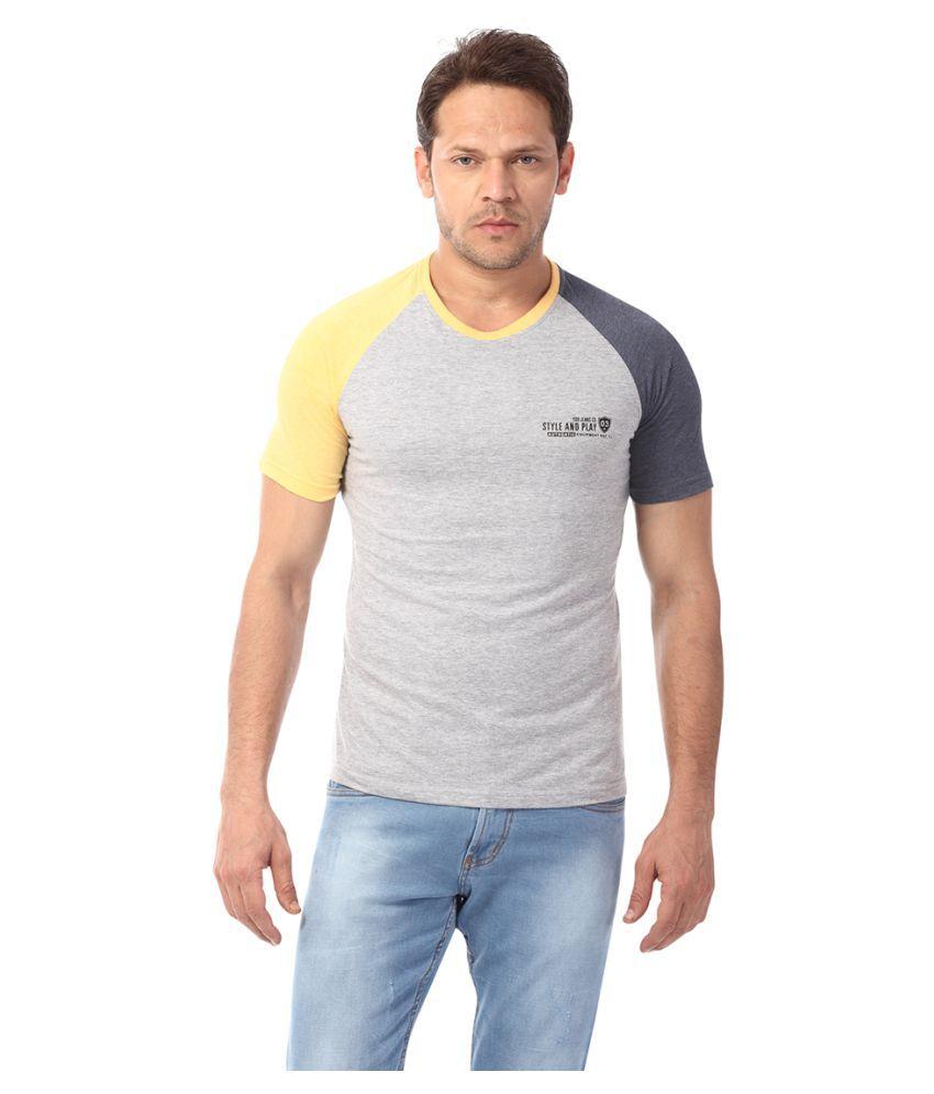 YOO Grey Round T-Shirt