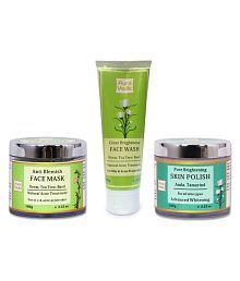 Auravedic Complete Acne Treatment Skin Regime Brightening Skin Moisturizer 300 Gm Pack Of 3