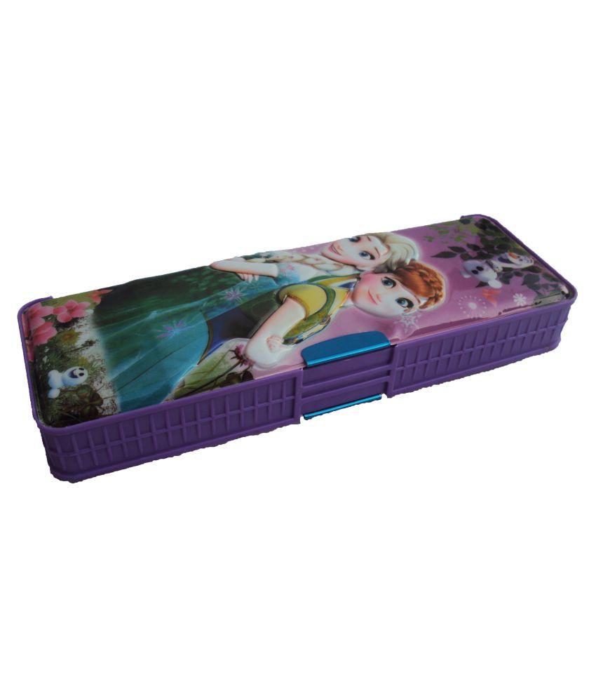 Asera Multicolor Plastic Pencil Box