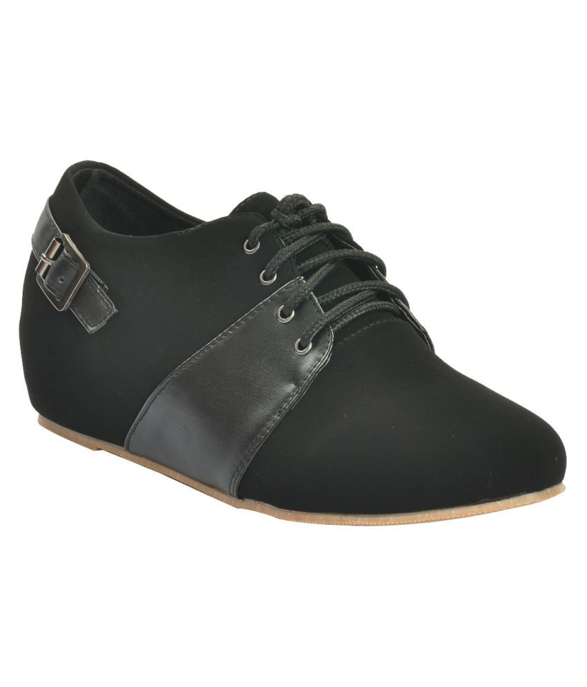 Shuberry Black Casual Shoes