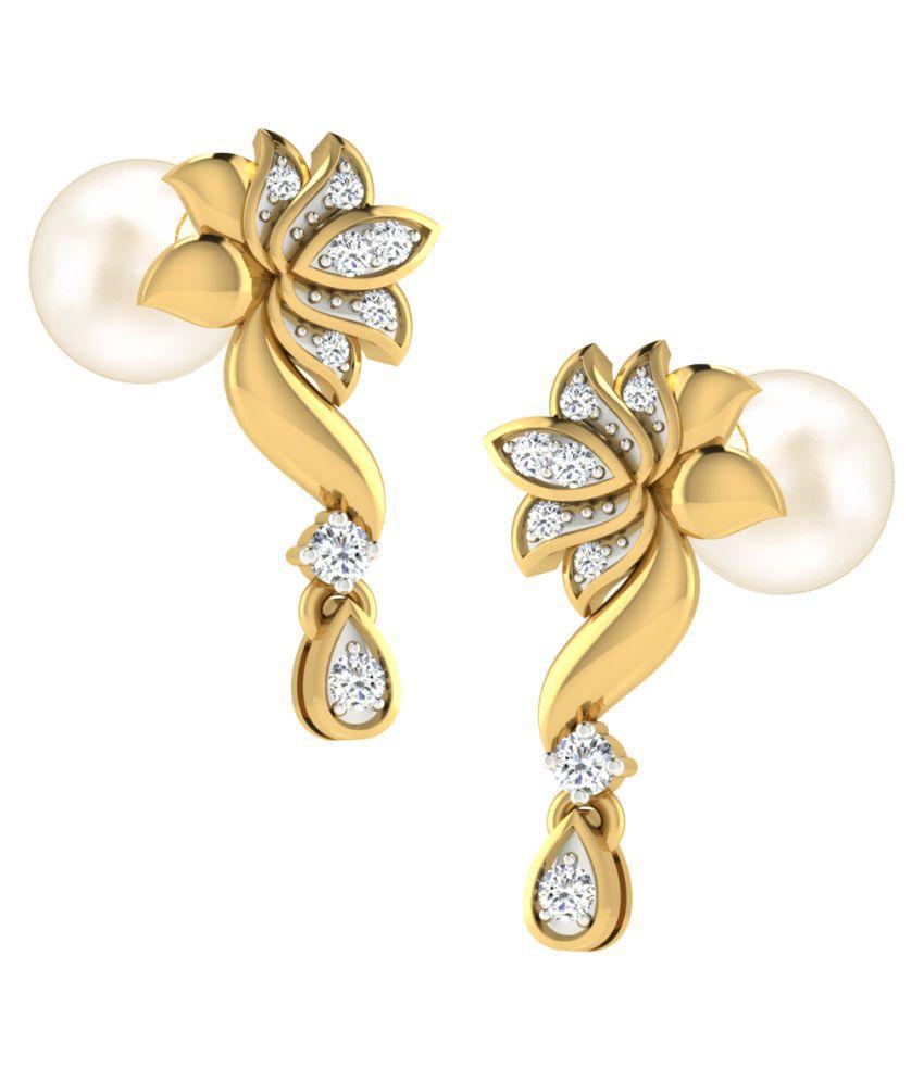 Tanaché 18k Yellow Gold Diamond Drop Earrings