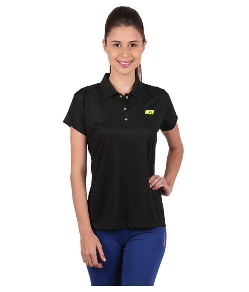 Vector X Black Polo Neck T-Shirt