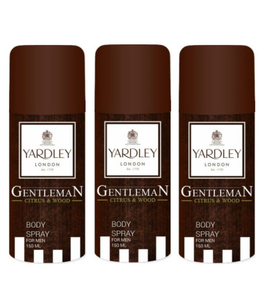 67be7a0d294 Yardley Gentleman Citrus And Wood Deodorant( 150 ml) - Pack of 3  Buy Online  at Best Prices in India - Snapdeal