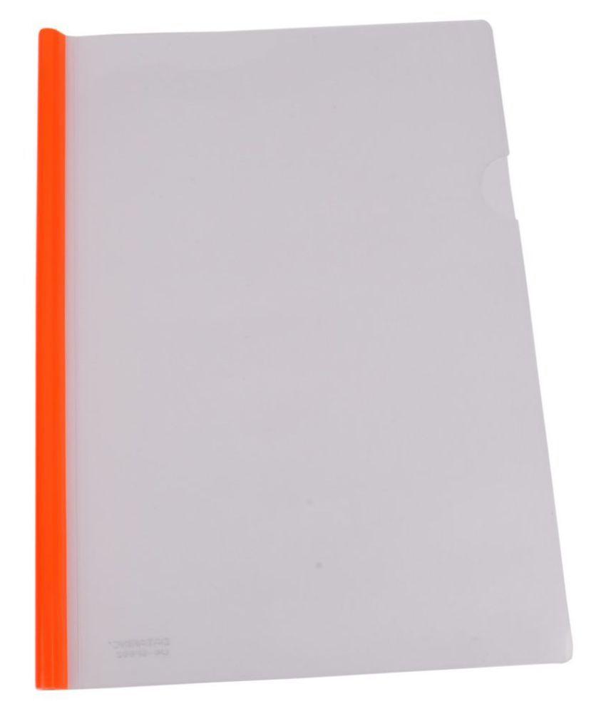 DataKing Polypropylene Stick File With Round Stick (Set Of 20, Orange)