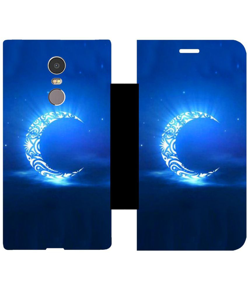 Lenovo K6 Note Flip Cover by Skintice - Blue