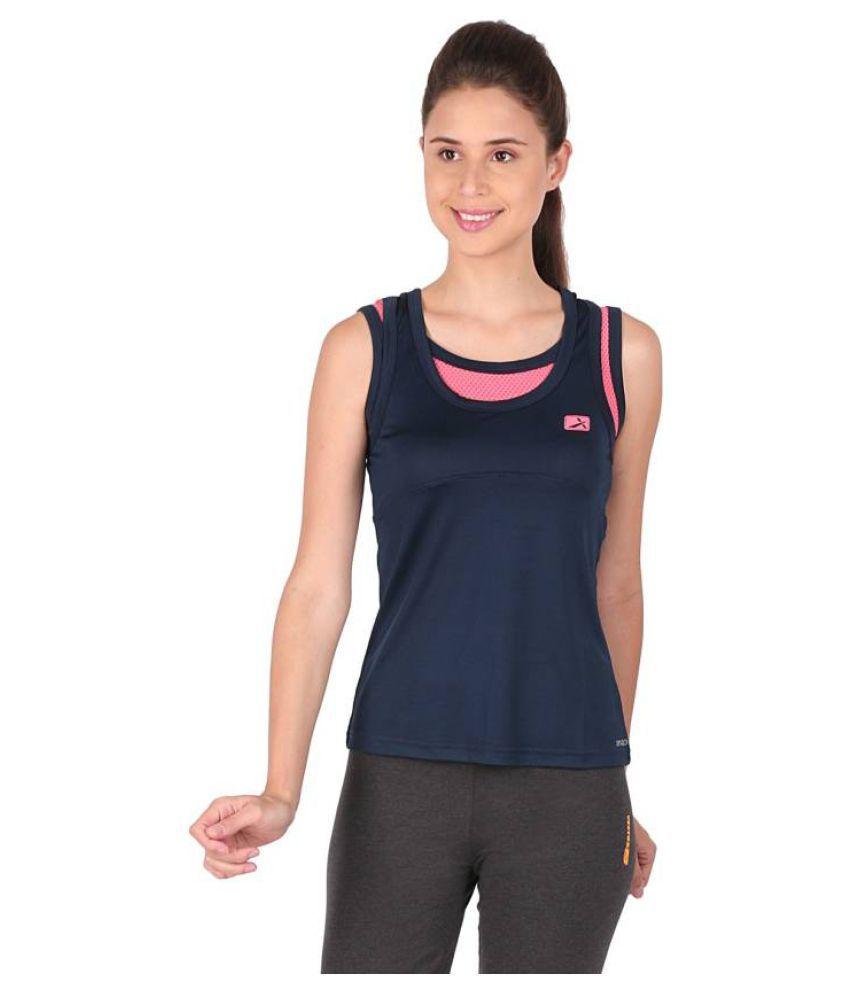Vector X Navy Blue Round Neck T-Shirt