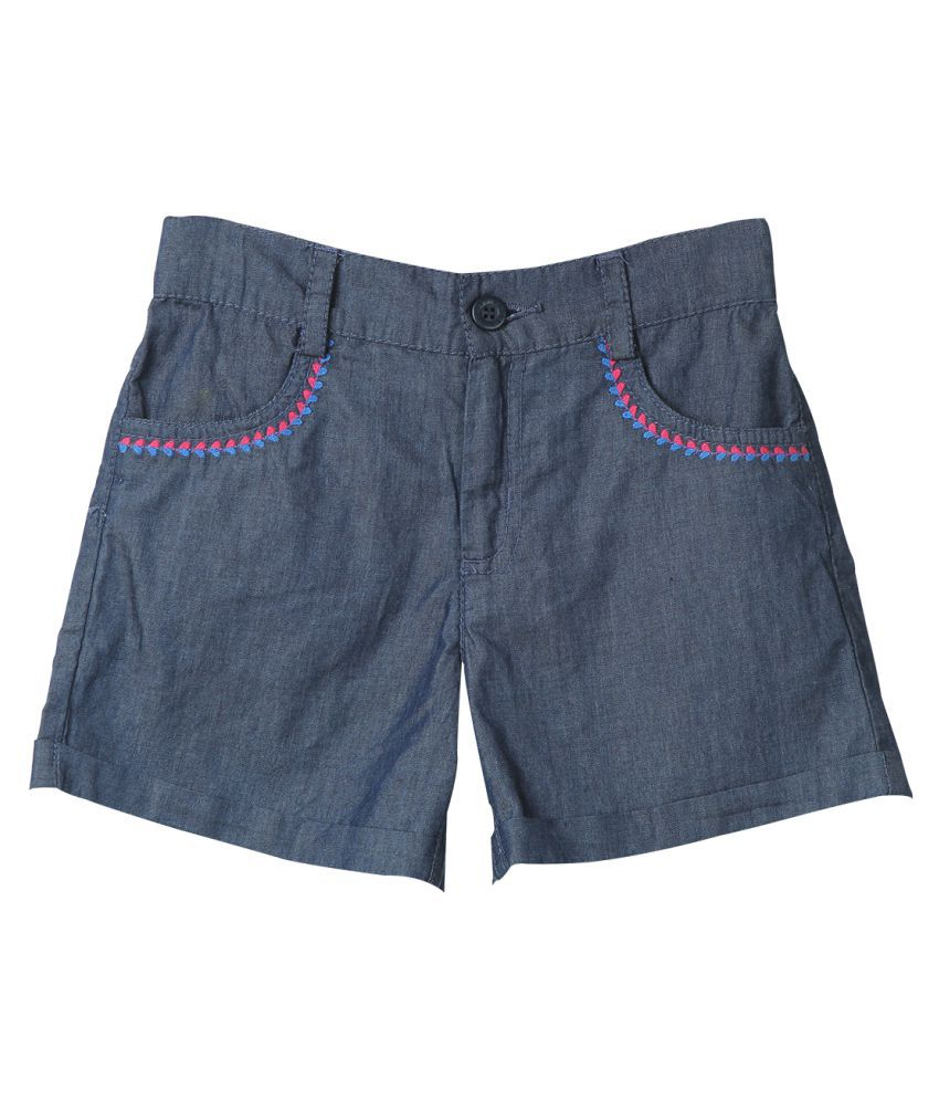 Beebay Embroidered Chambray Shorts