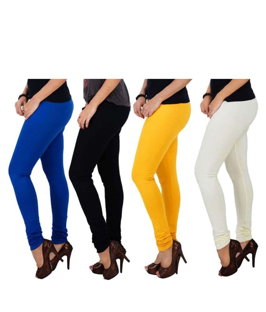 Lyneth Cotton Pack of 4 Leggings