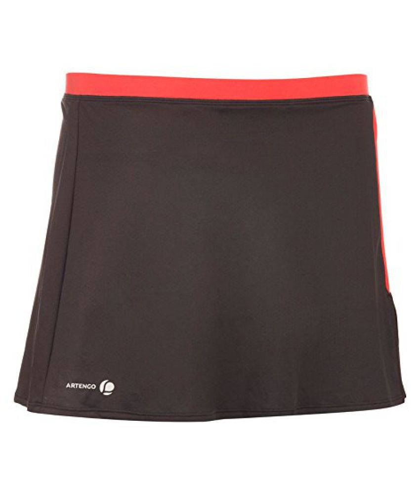 ARTENGO SOFT WOMEN'S TENNIS BADMINTON TABLE TENNIS SQUASH PADEL SKIRT - GREY/PINK
