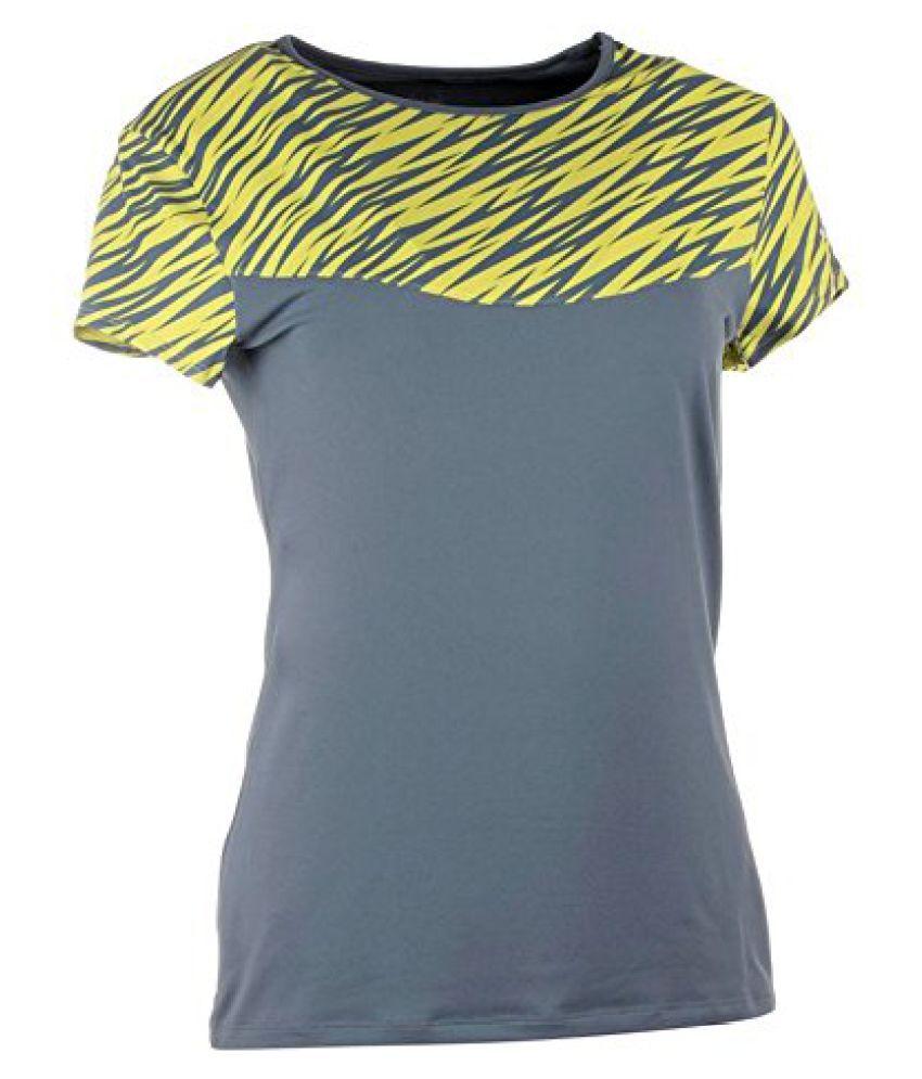 ARTENGO SOFT WOMEN'S TENNIS PADEL TABLE TENNIS BADMINTON T-SHIRT - YELLOW GRAPHICS