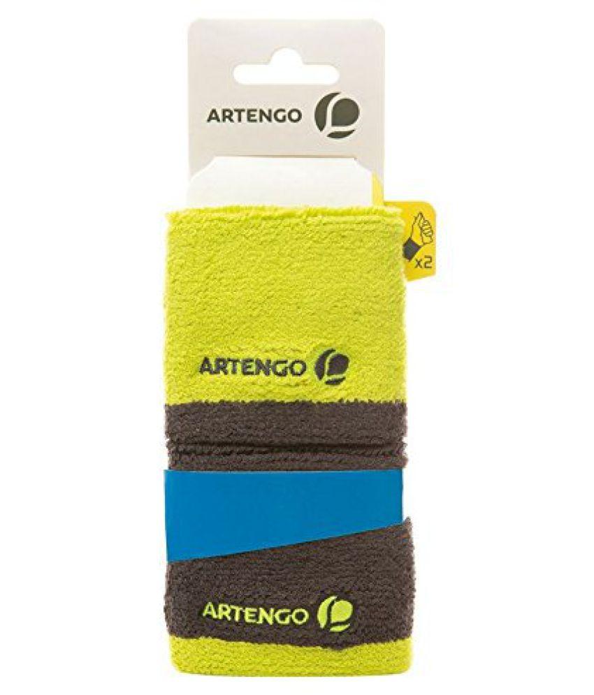 ARTENGO WRISTBAND - GREY/YELLOW