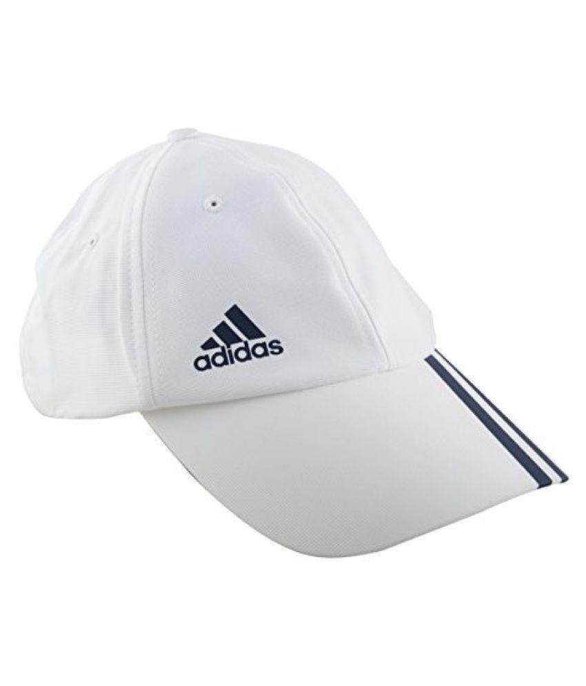 Adidas AZ7704M Cotton Cap, Men's Medium (White)