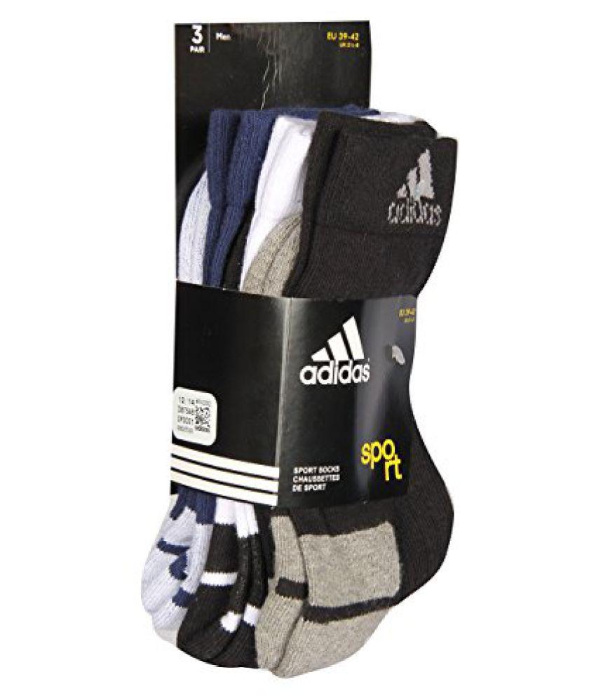 Adidas Half Cushin Crew AD447 (Black/White/N Blue) Pack of 3