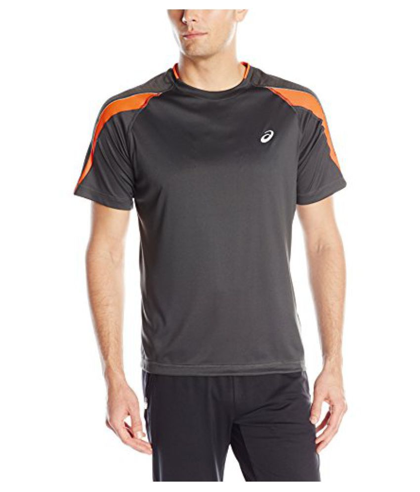 Asics Mens Short-Sleeve Zip Stripe Running T-Shirt