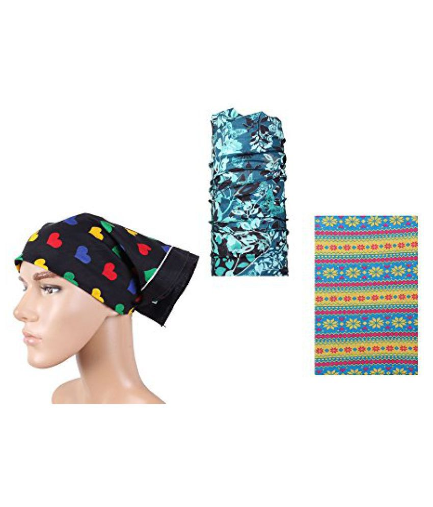 Black Fancy Headwrap Combo Bandana