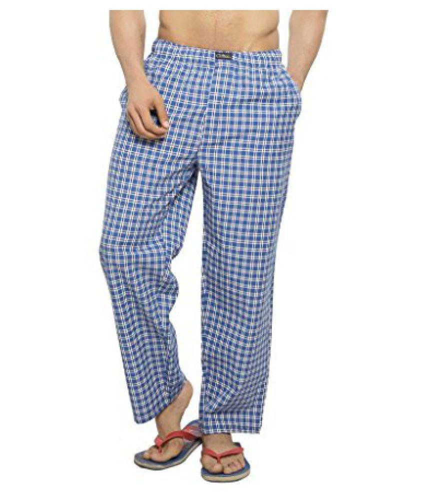 Clifton Men's Woven Pyjama - Blue White Checks