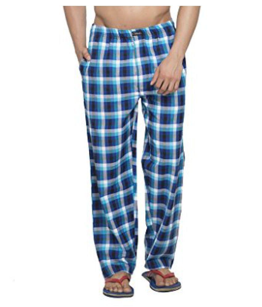 Clifton Men's Woven Pyjama - Royal Blue White Checks