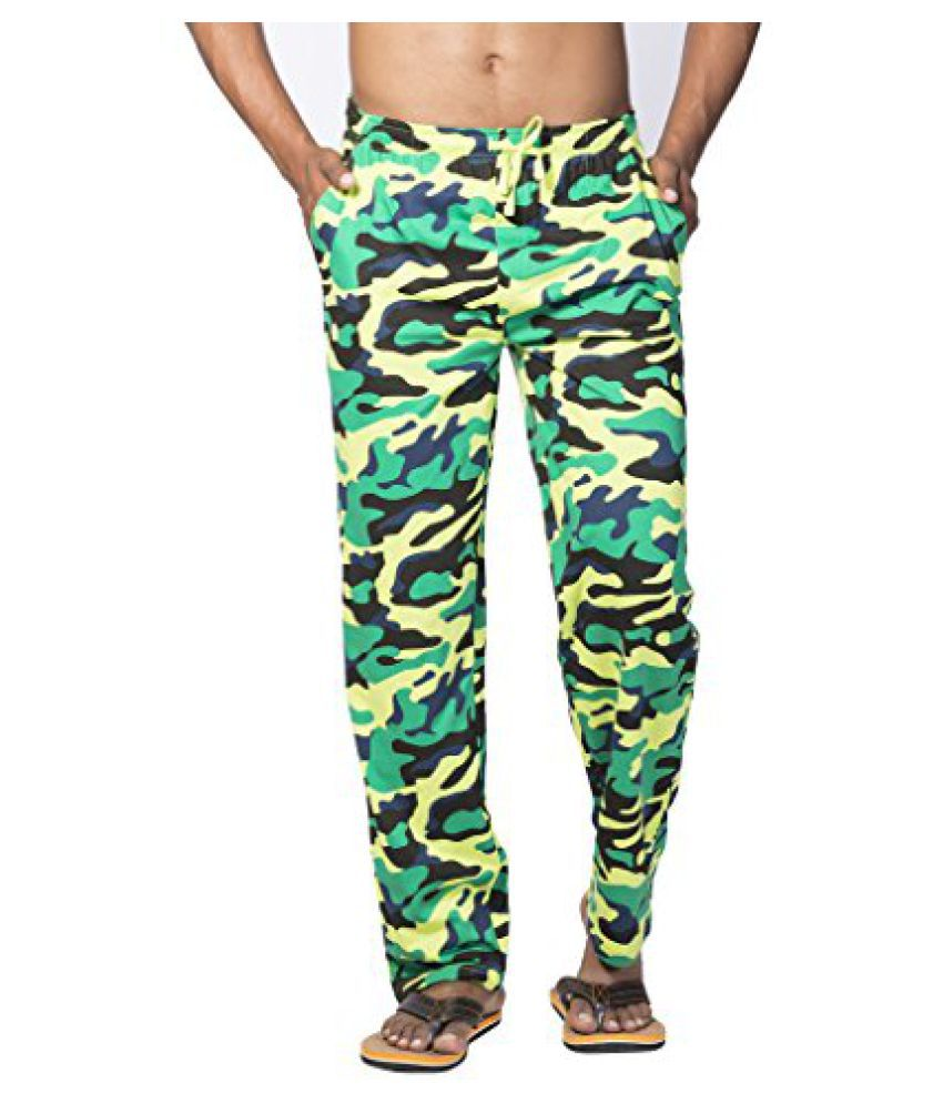 Clifton Mens Army Track Pant-Lime Green