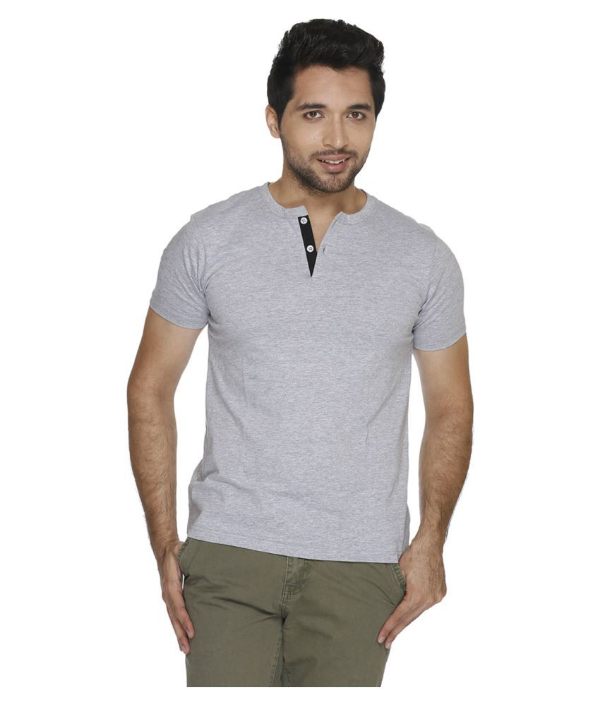 Fast n Fashion Grey Henley T-Shirt