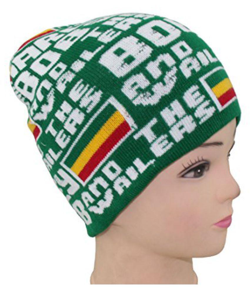 Green Marley Unisex Wollen Cap