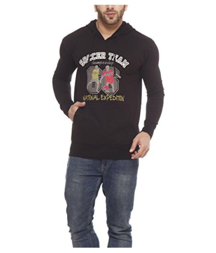 Gritstones Black Printed Sweatshirt-GSSSBLKSOCCER