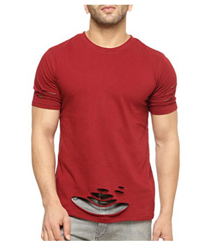 Gritstones Half Sleeve Round Neck T Shirt GSHSTSHT1301MRN
