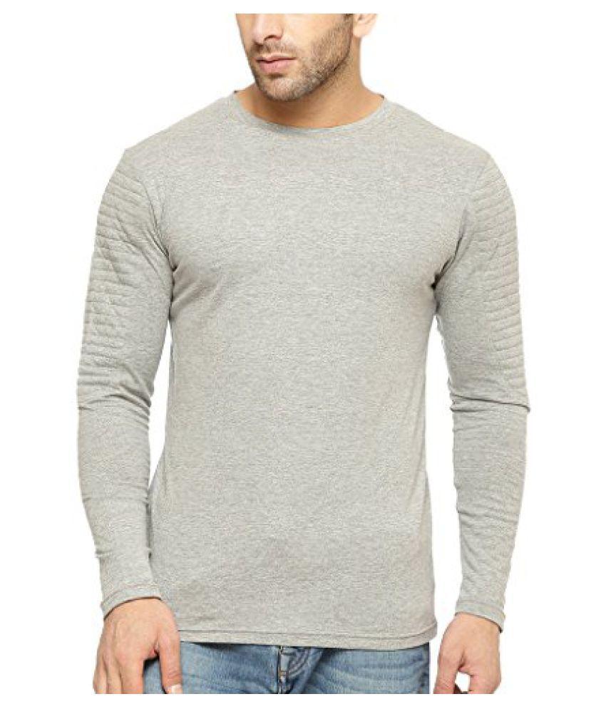Gritstones Round Neck Full Sleeve T Shirt GSFSTSHT1308GMEL
