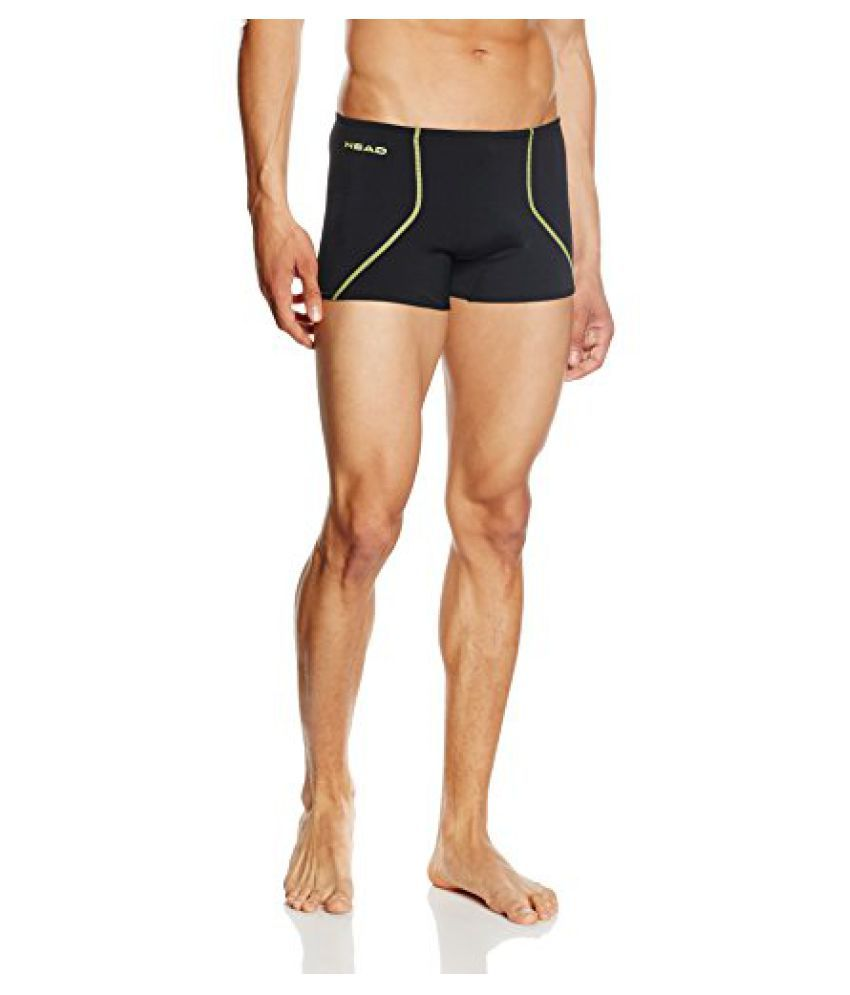 HEAD Swimwear SOLID Y 27 BOXERS (BLACK LEMON, X-LARGE 34)