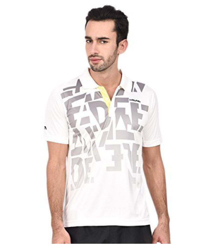 Head HCD-230 Men'S T-Shirt-White/Yellow Size - S