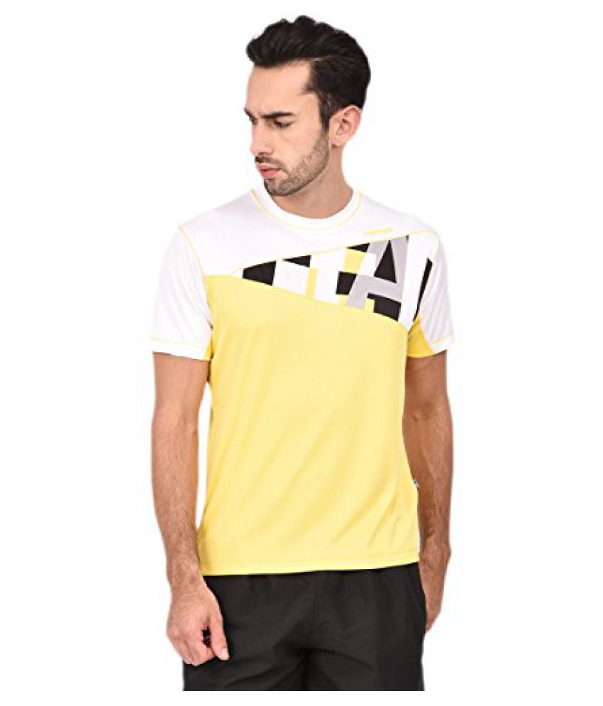 Head HCD-240 Men'S Round Neck T-Shirt-Blk/White/Yellow Size -S