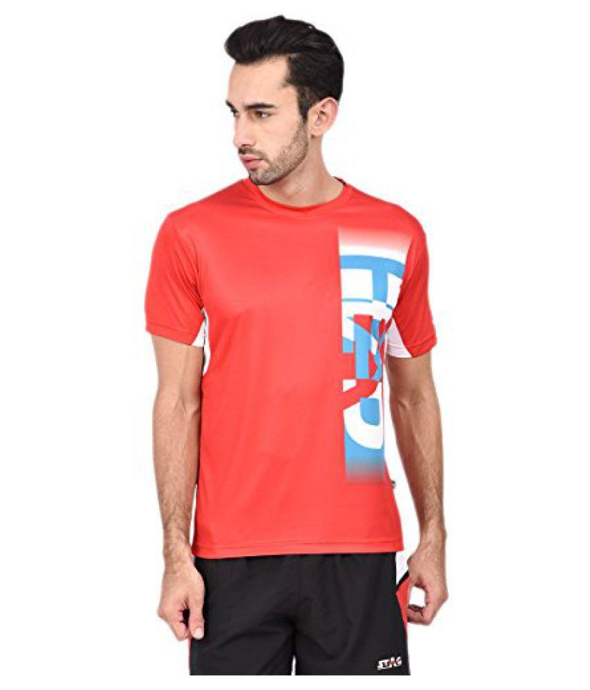 Head HCD-241 Men'S Round Neck T-Shirt-Red/White/Torquish Size -L