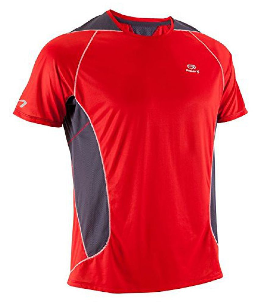 KALENJI ELIO MEN'S RUNNING T-SHIRT - RED