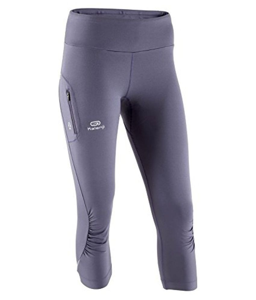 KALENJI ELIOPLAY Ÿ WOMEN'S RUNNING TIGHTS - GREY