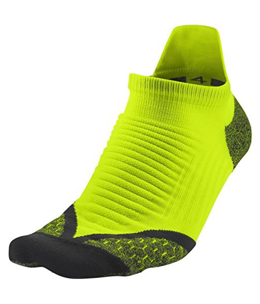 Nike Unisex Men's Women's Nike Elite Cushioned Increased Visibility Running Socks