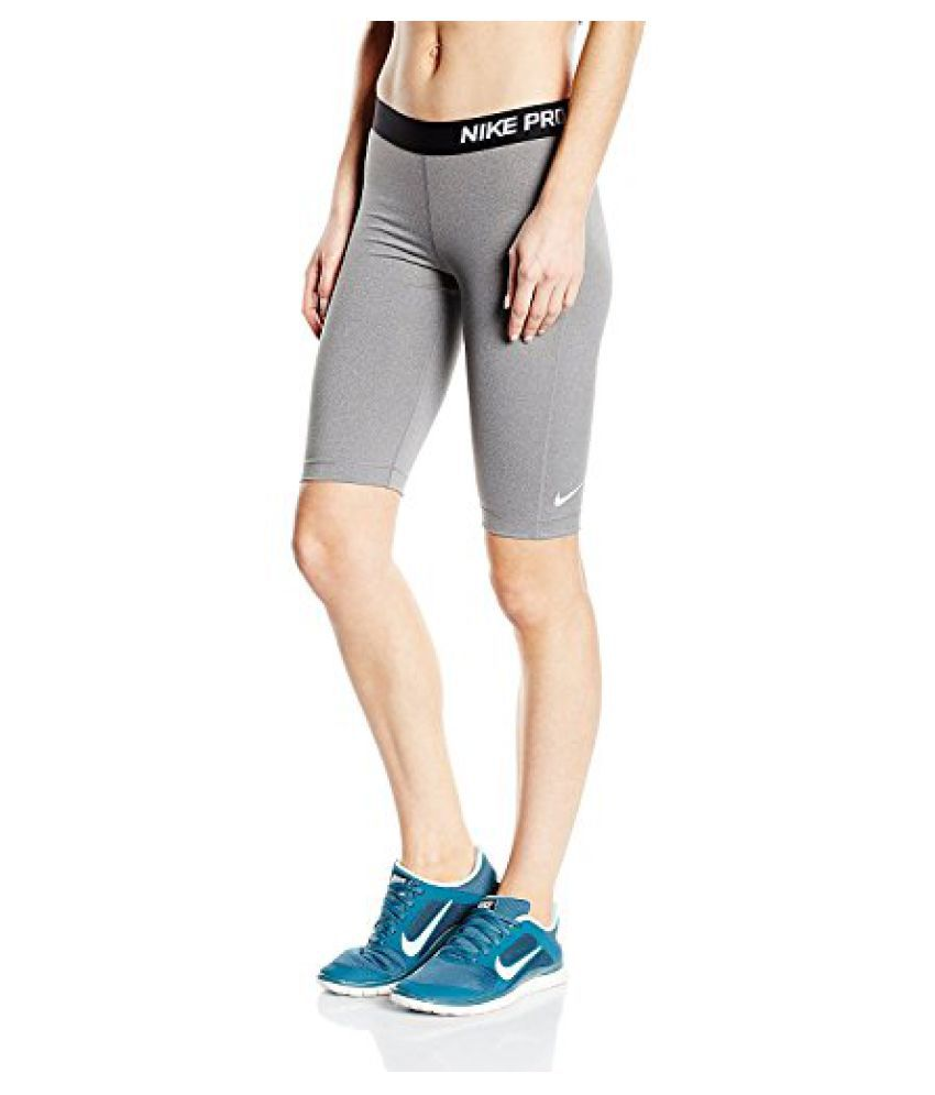 Nike Womens Pro Core 11 Compression Shorts Grey/Black