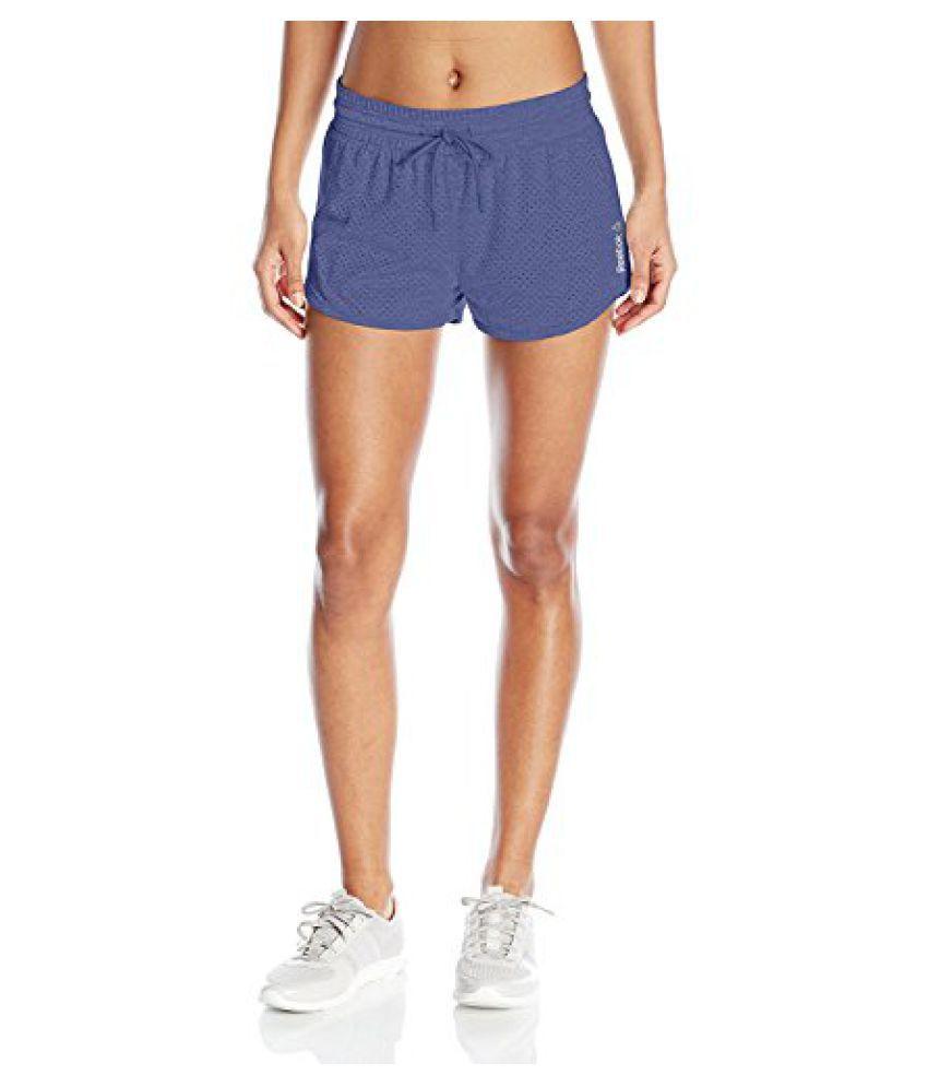 Reebok Women's Elements Cotton Shorts with Mesh