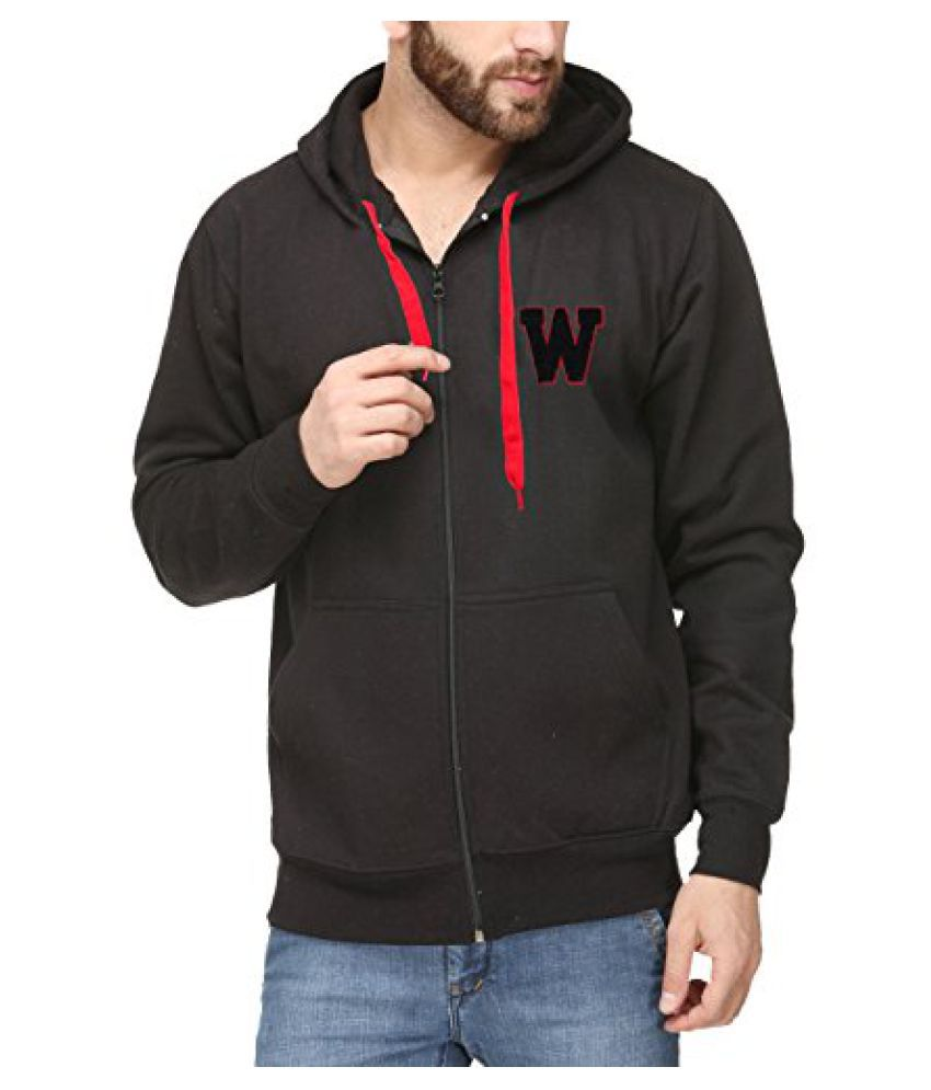 Scott International Black Cotton Comfort Styled Hooded Sweatshirt