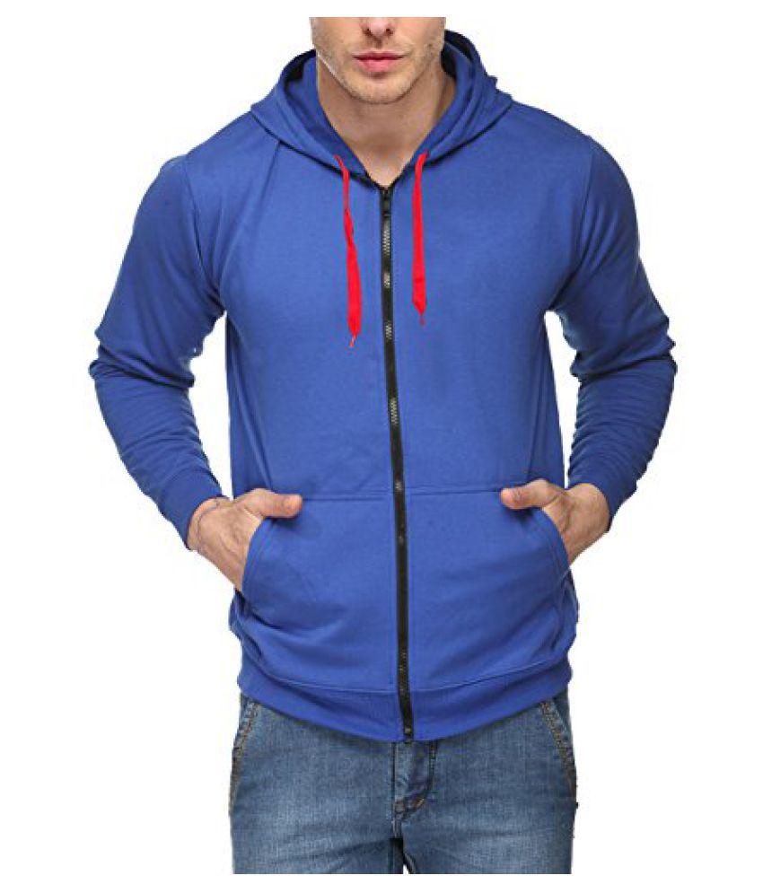 Scott International Full Sleeve Hooded Unisex Royal Blue Sweatshirt