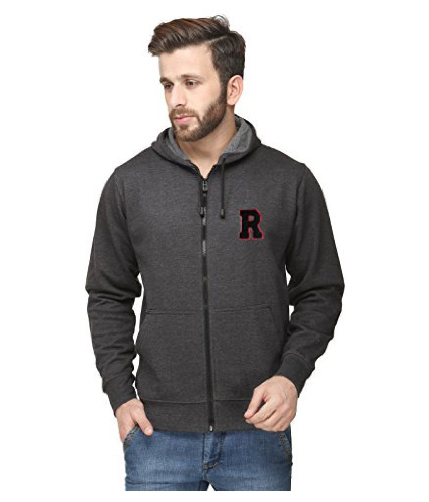 Scott InternationalCharcoal Grey Cotton Comfort Styled Hooded Mens Sweatshirt