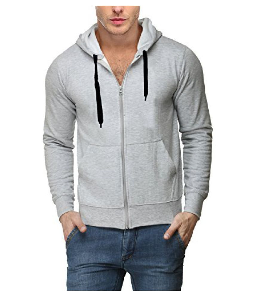 Scott Men's Premium Rich Cotton Cotton Hoodie Sweatshirt with Zip - Grey