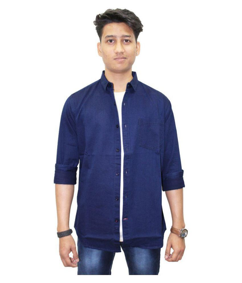 Southbay Blue Casuals Slim Fit Shirt